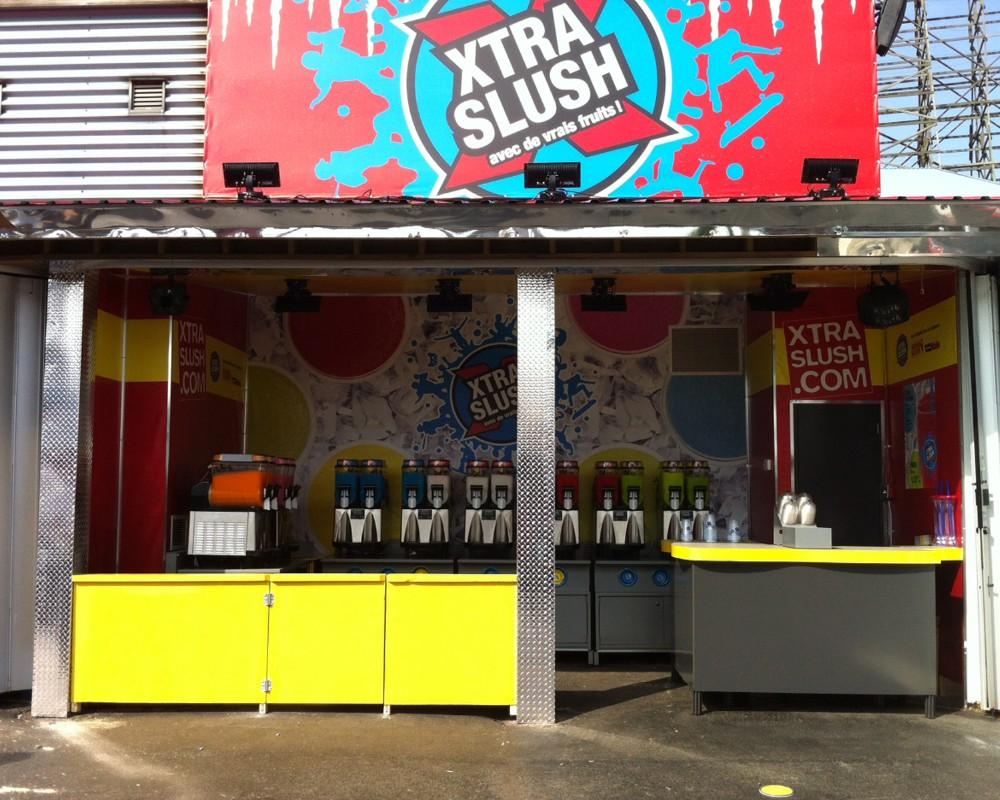 100% Détail - Sobeys : Kiosque XtraSlush à La Ronde