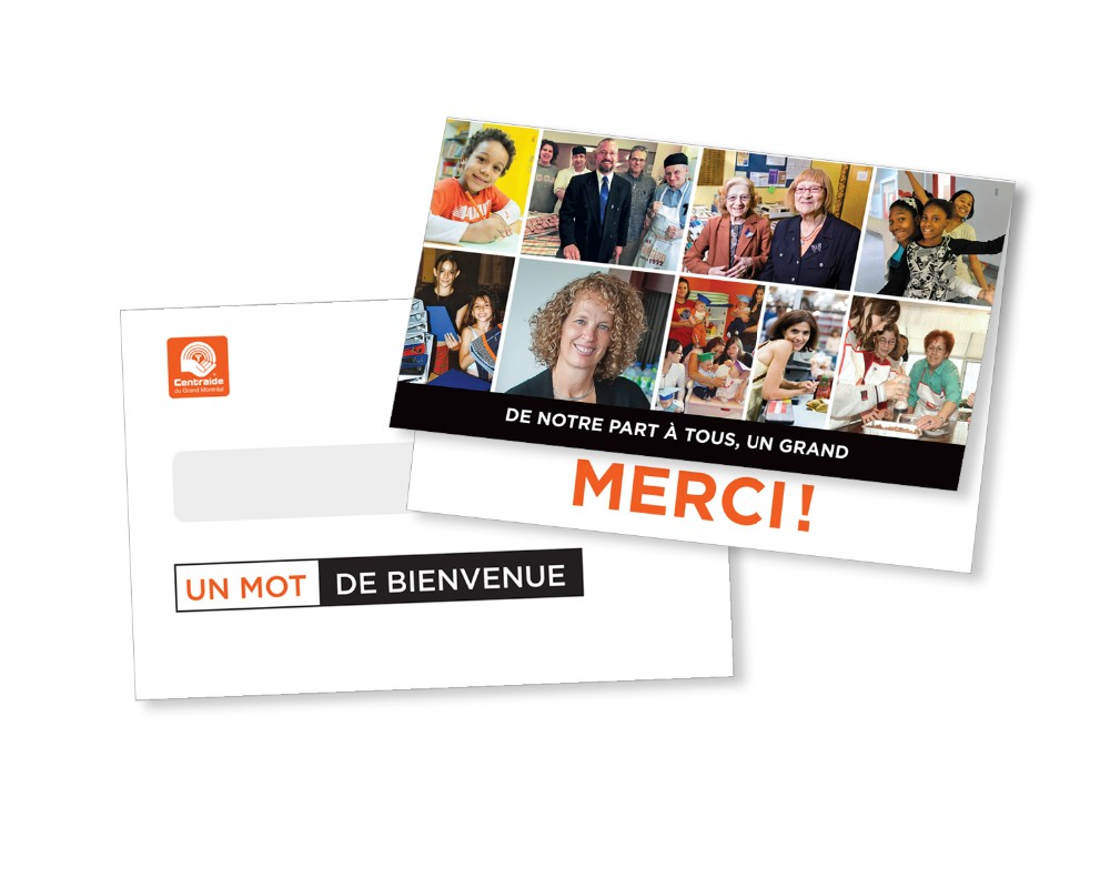Centraide : Publipostage – Campagne de remerciement