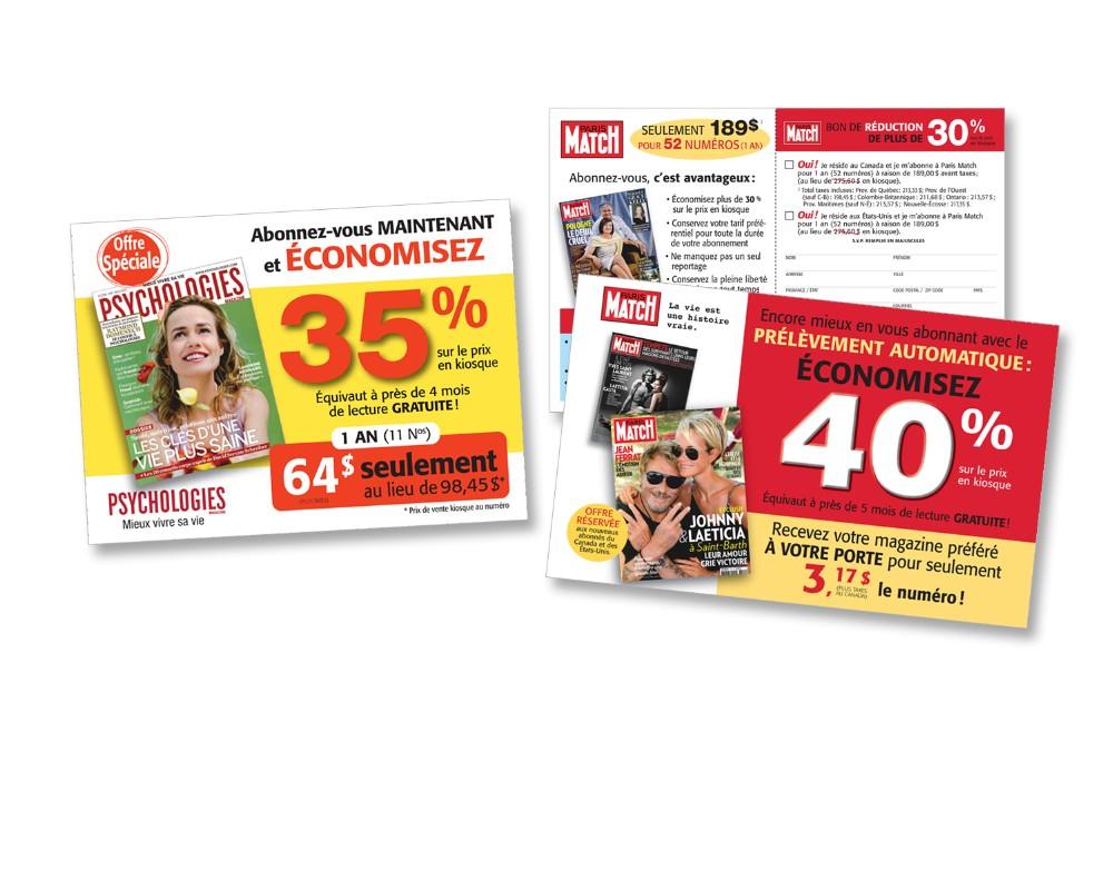 Express Mag : Encart postal publicitaire