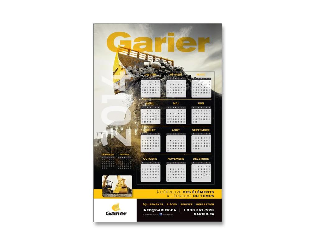 Garier : Calendrier 2014