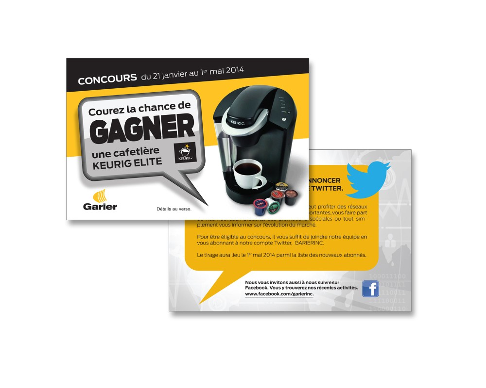 Garier : Carton pour concours