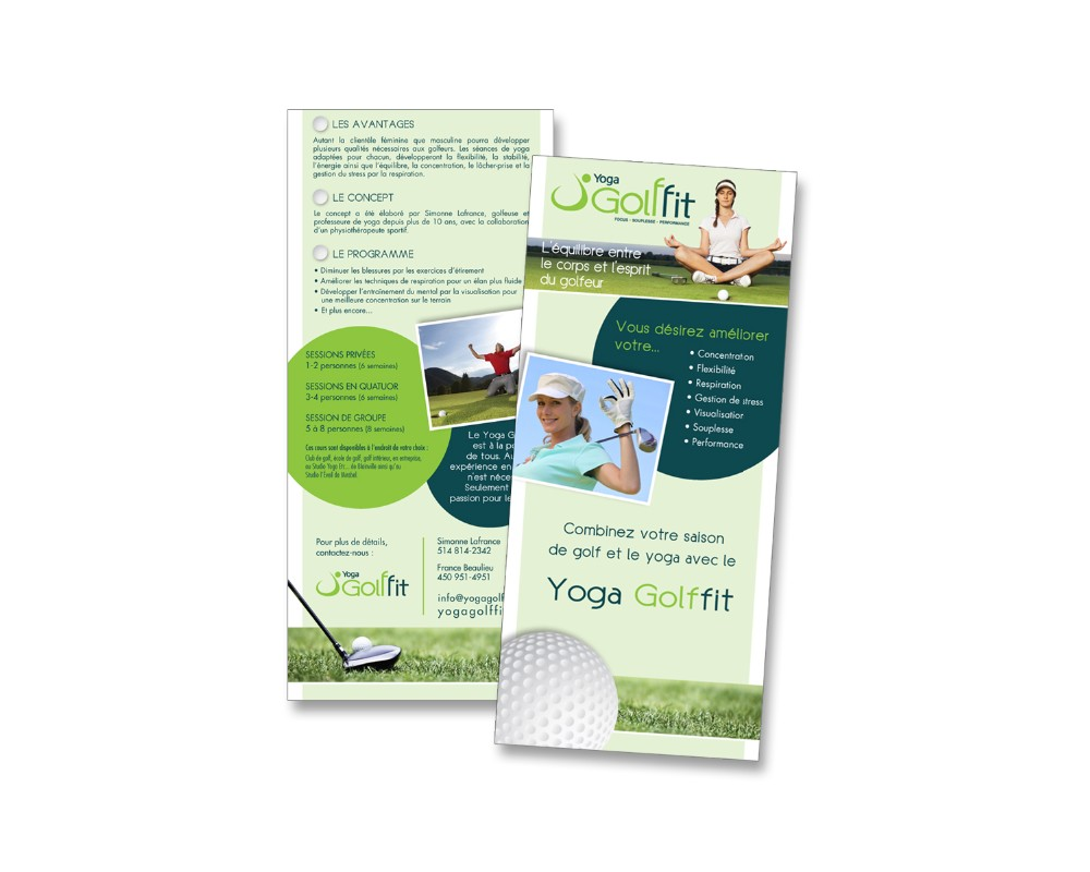 Golffit : Carton publicitaire