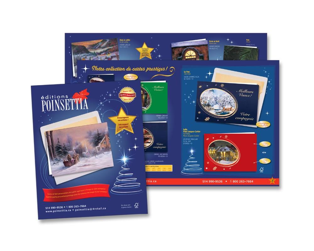 Éditions Poinsettia : Catalogue de cartes de Noël - 16 pages