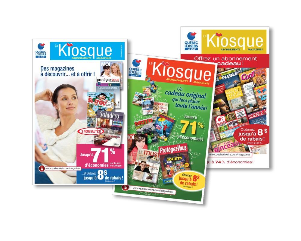 Québec Loisirs : Catalogue trimestriel de 12 pages