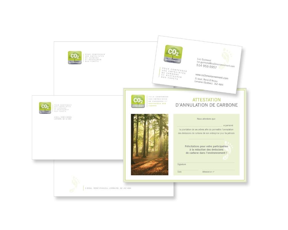 CO2 Environnement - Papeterie et certificat
