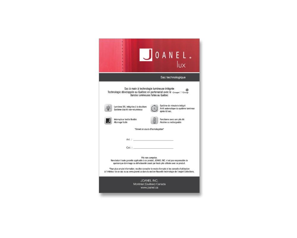 Joanel : Étiquette