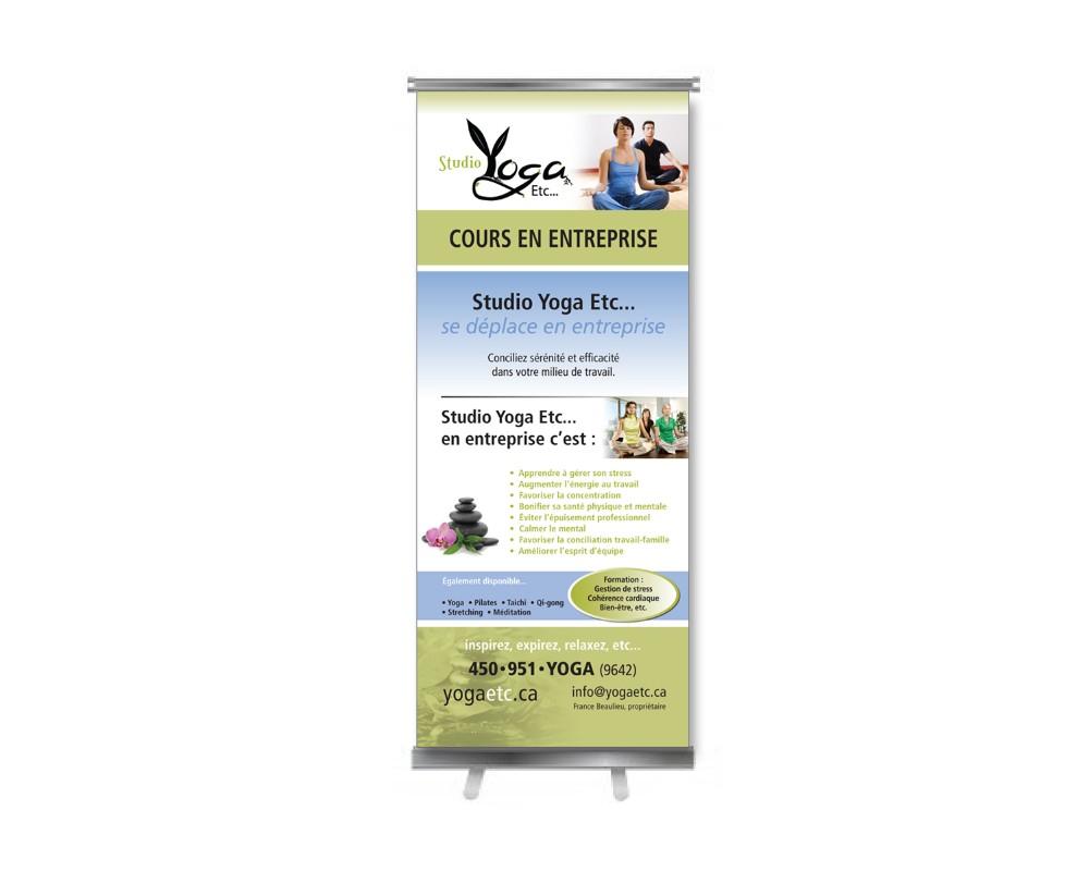 Studio Yaga Etc : Bannière auto-portante