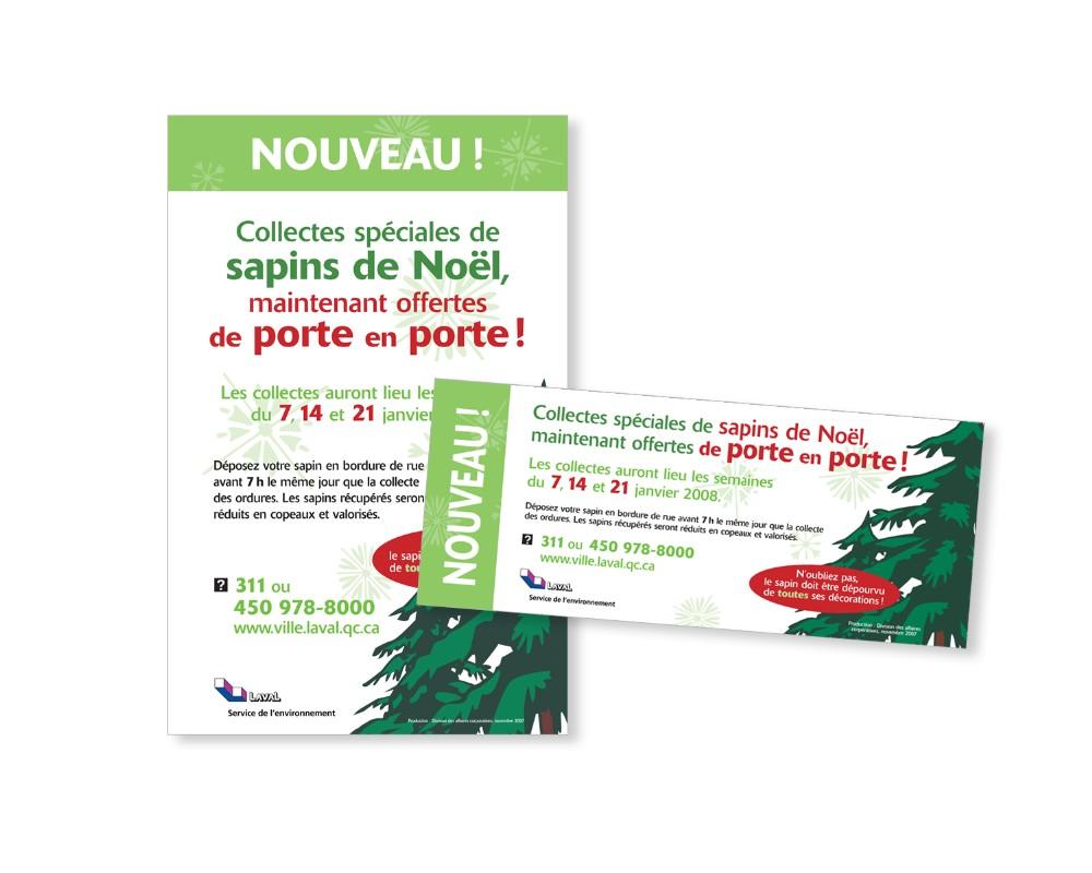 Ville de Laval : Affiche, carton et prisme pour carrefour routier