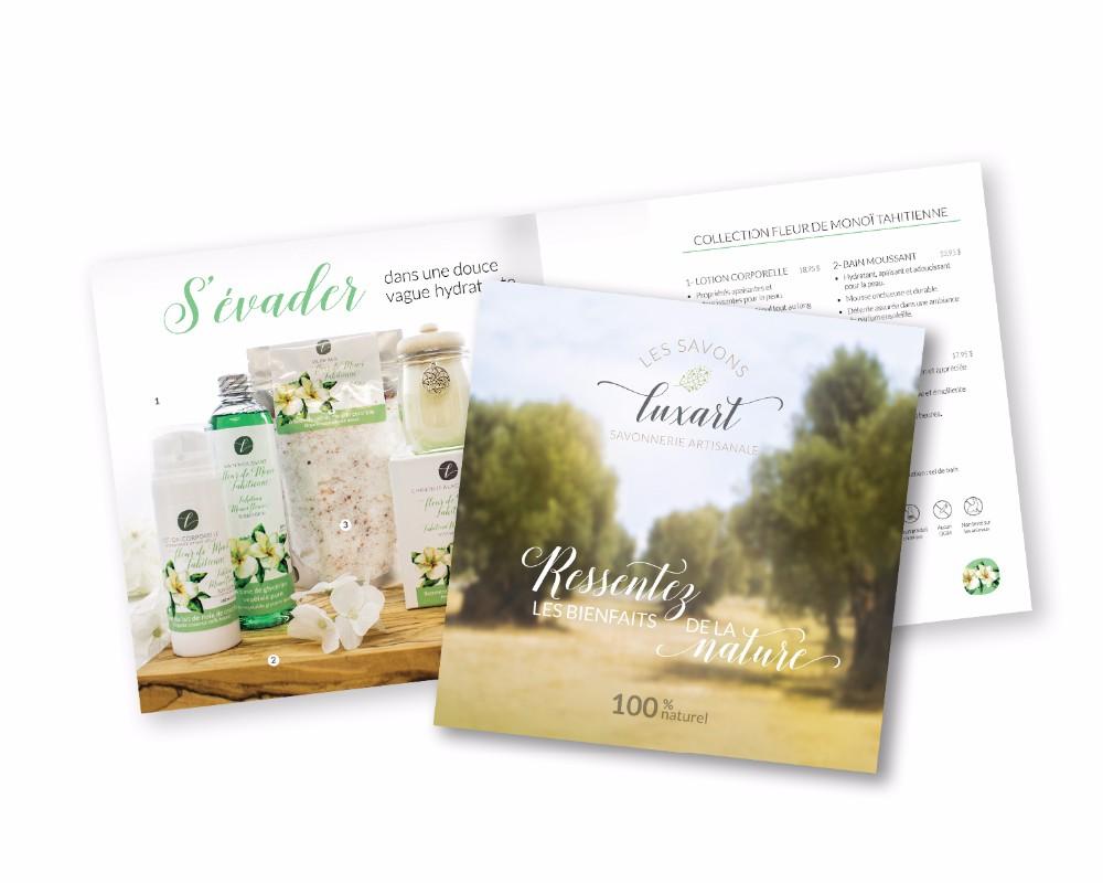 Les savons Luxart : Catalogue de 16 pages