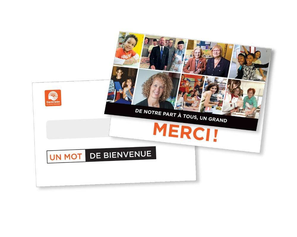Centraide : Publipostage – Campagne remerciement