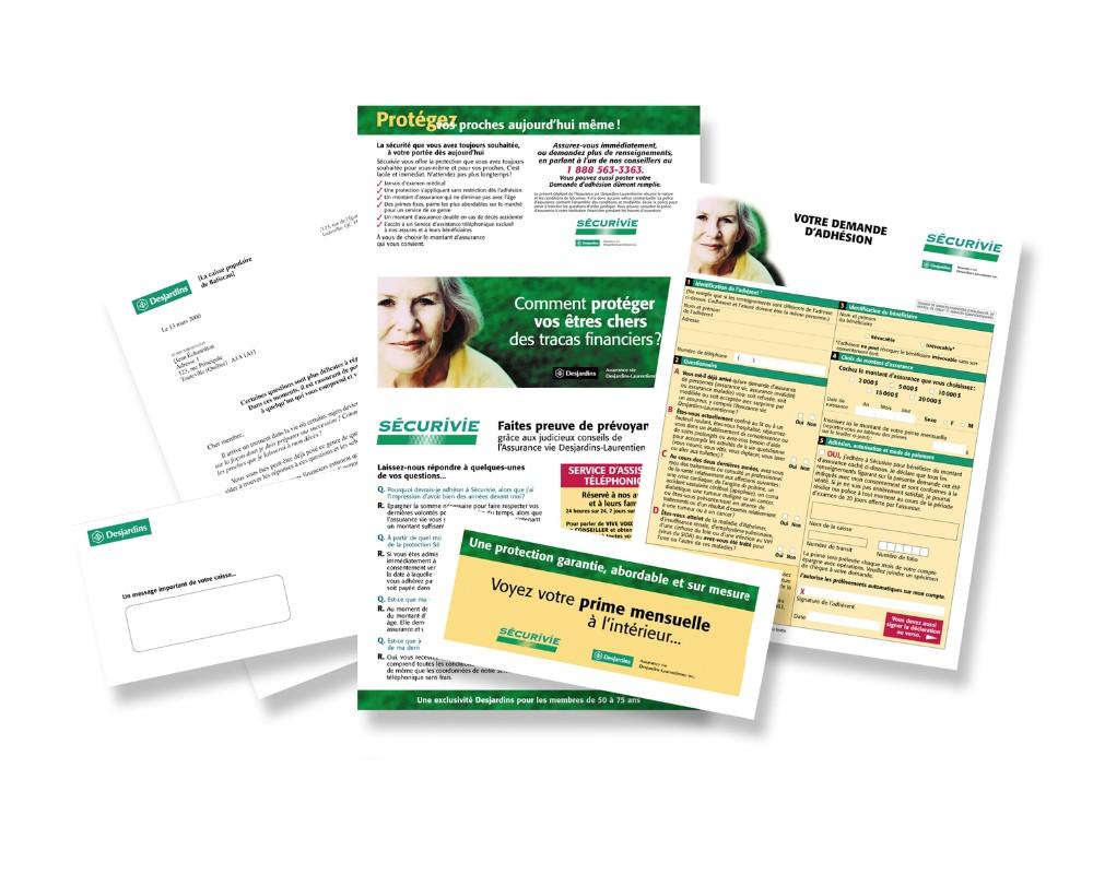 Desjardins : Publipostage - Assurance vie Desjardins-Laurentienne, Sécurivie