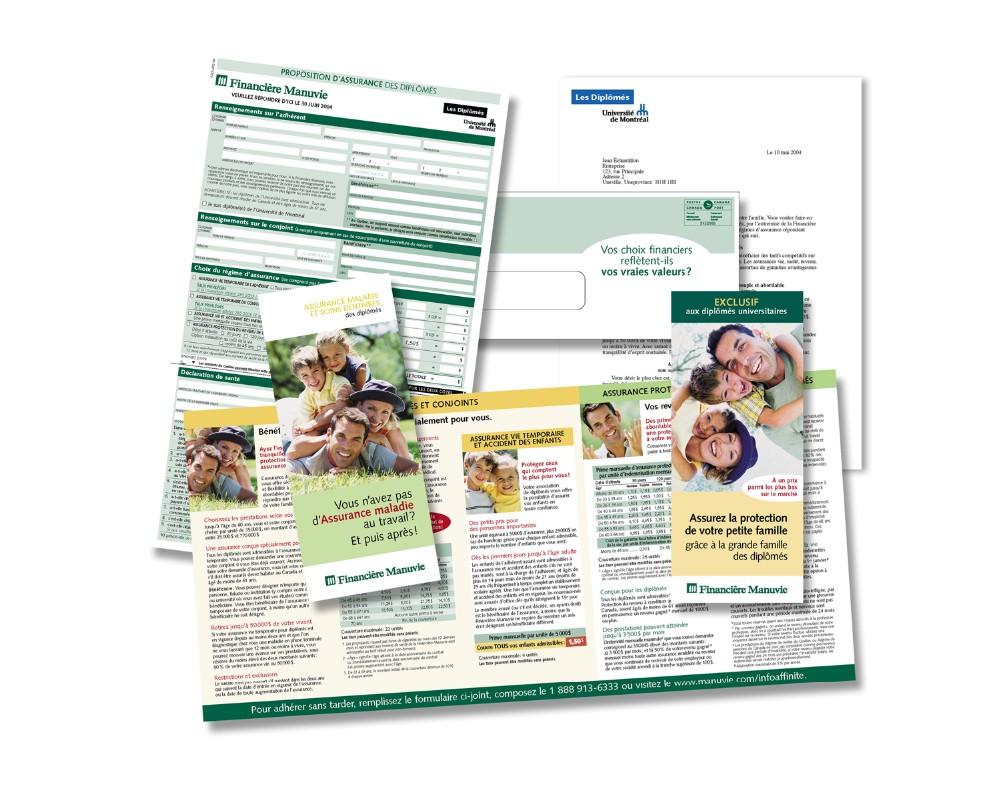 Financière Manuvie : Publipostage - Assurance-vie et maladie