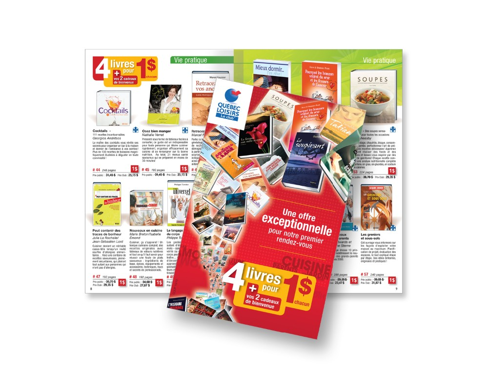 Québec Loisirs : Catalogue 16 pages / bon de commande intégré - recrutement