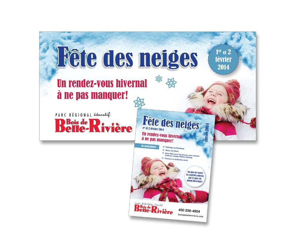 Ville de Mirabel : Panneau extérieur et publicité pour le Bois de Belle-Rivière