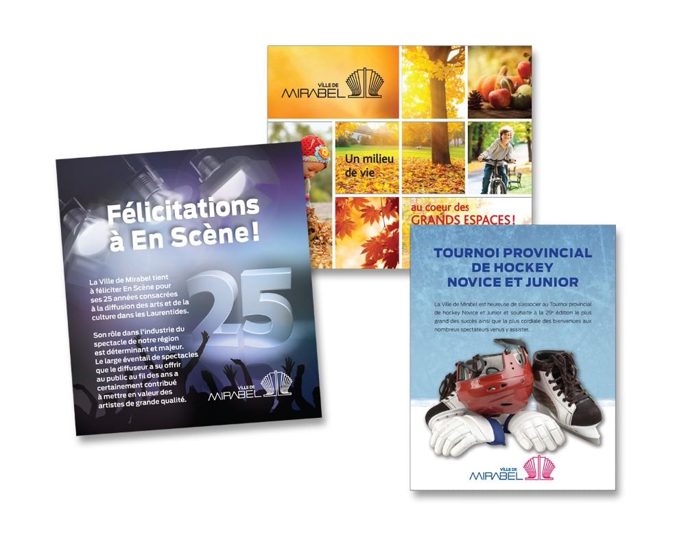 Ville de Mirabel : Publicités