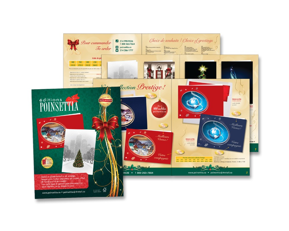 Éditions Poinsettia : Catalogue de cartes de Noël -  16 pages