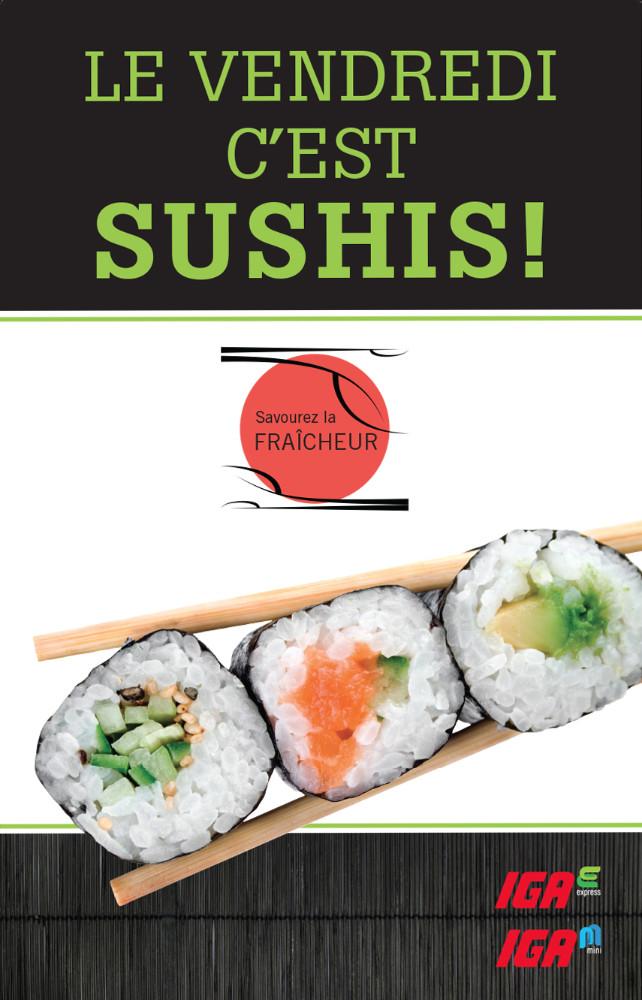 100% Detail - Sobeys : Promo sushis, Windsign, IGA MINI et EXPRESS