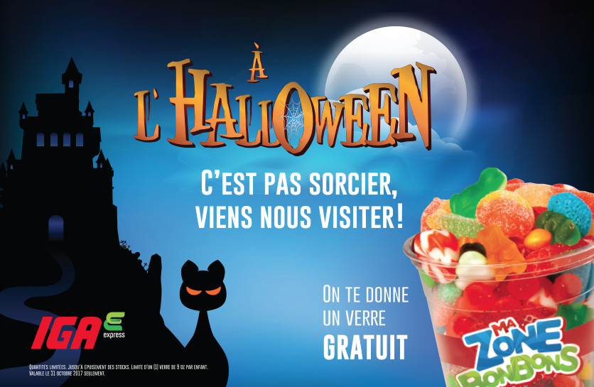100% Detail - Sobeys : Promo Halloween, coiffe-pompe, IGA EXPRESS