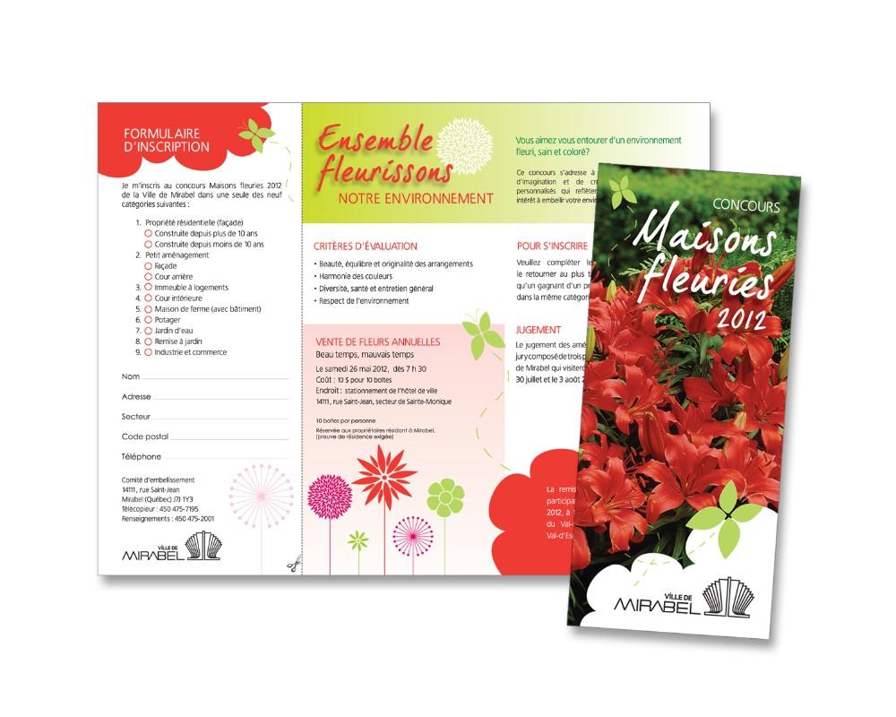 Ville de Mirabel : Dépliant pour le concours Maisons fleuries