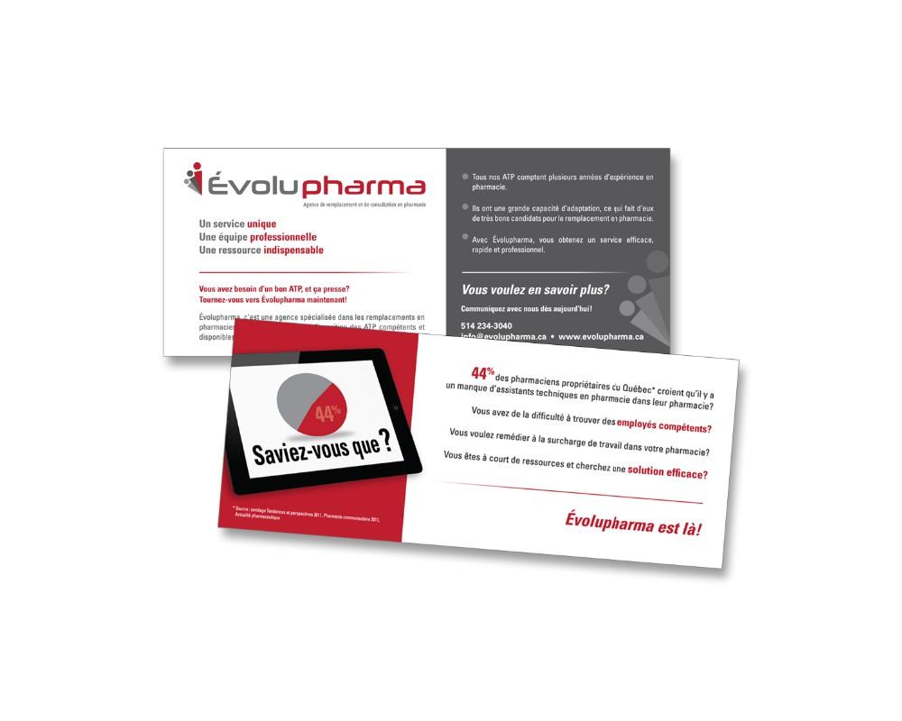 Évolupharma : Carton publicitaire