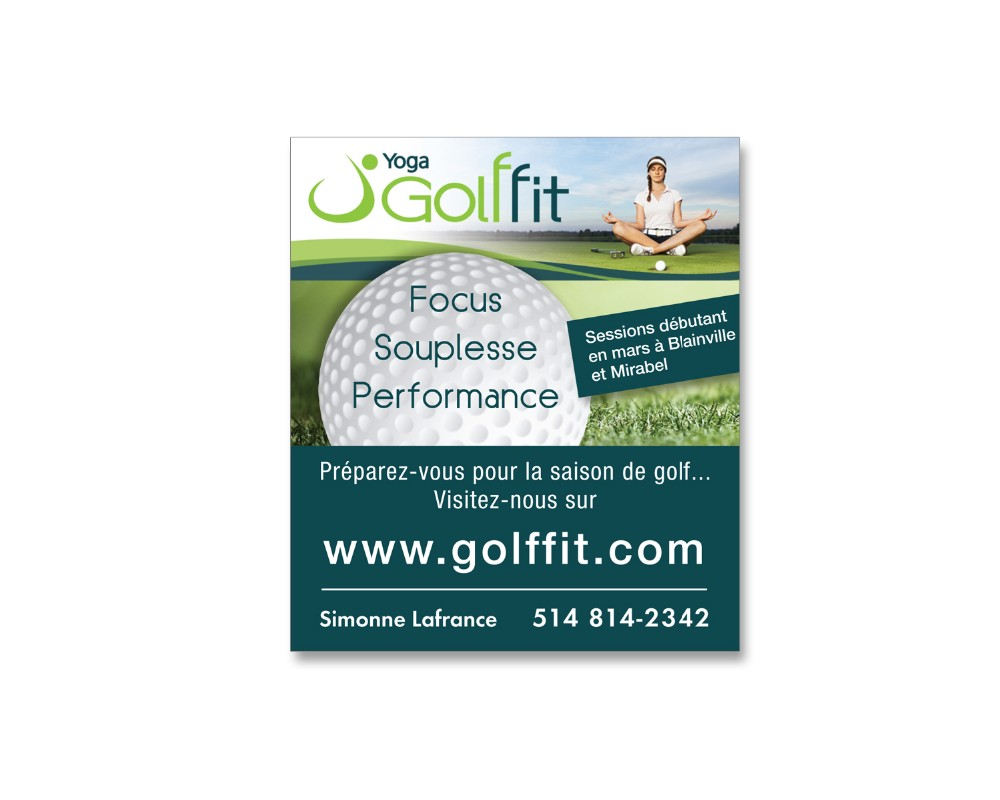 Golffit : Publicité journal