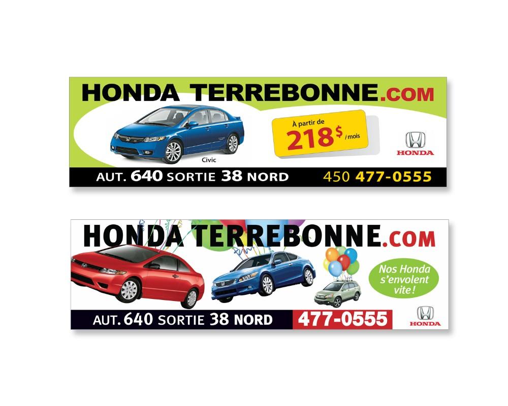 Honda de Terrebonne : Panneau géant extérieur (autoroute)