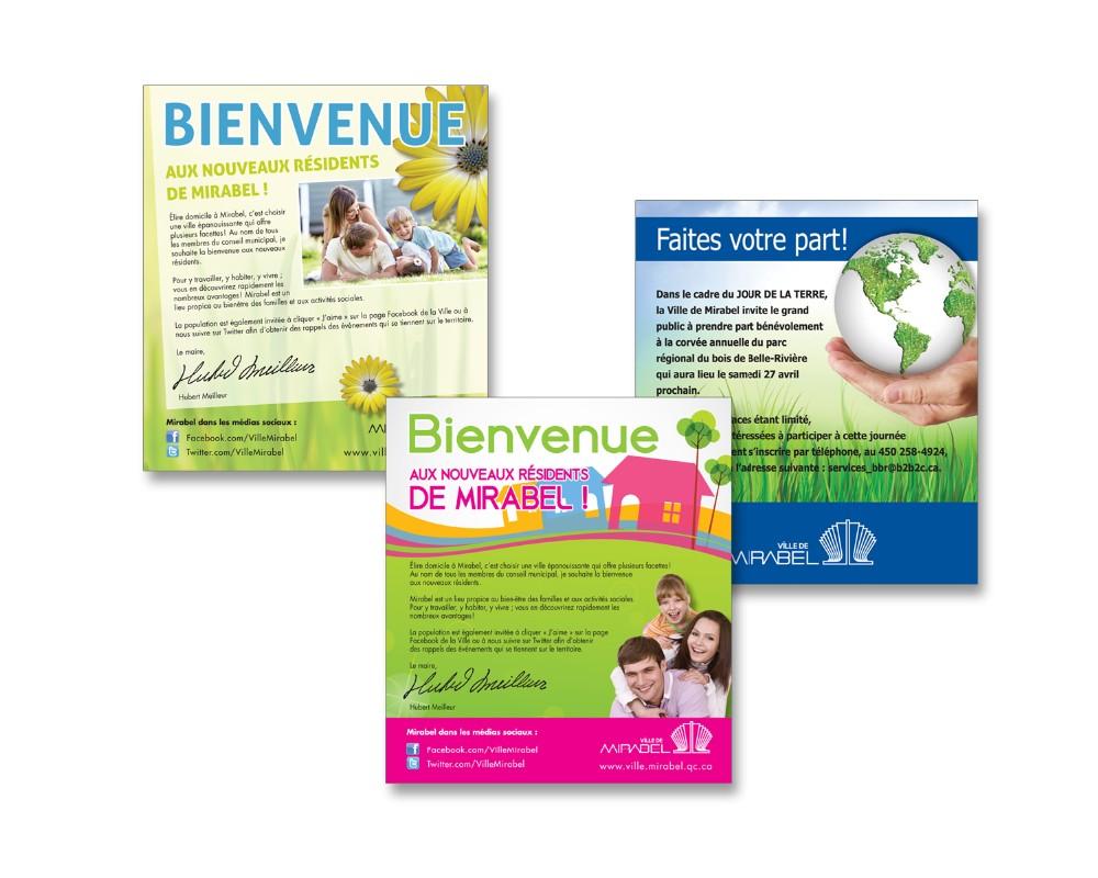 Ville de Mirabel : Publicités journaux