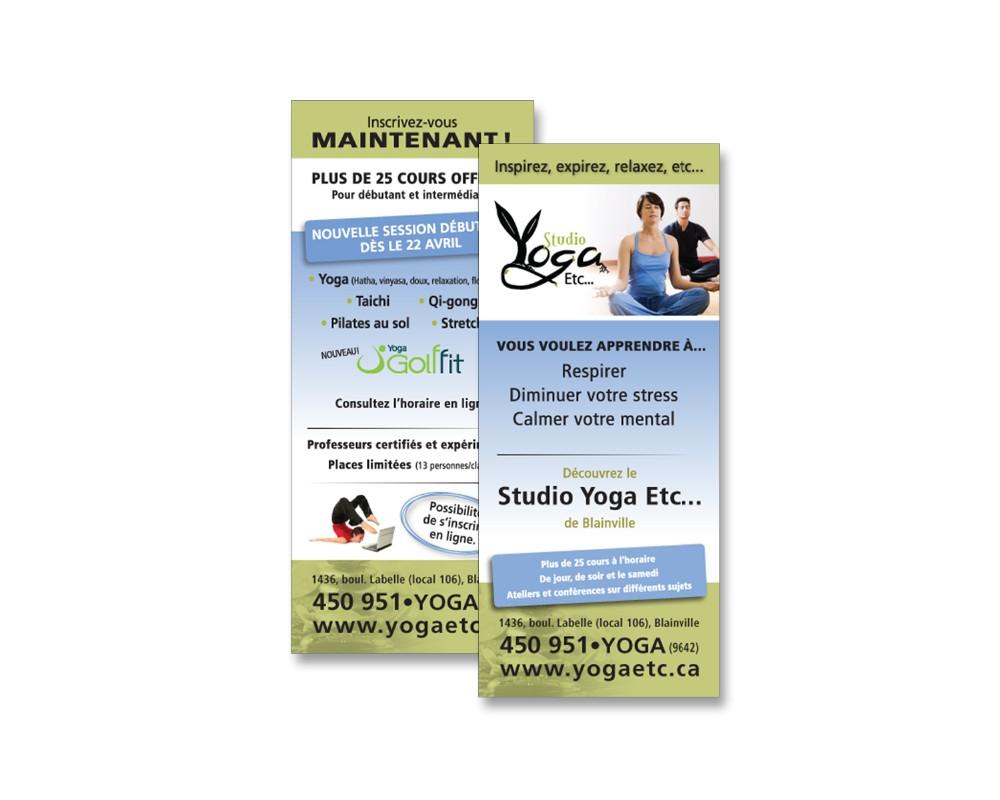 Studio Yoga Etc : Carton publicitaire