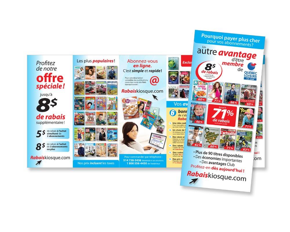 Québec Loisirs : Encart – Offre magazines